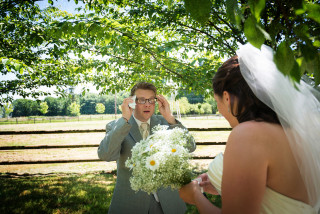 Disbelief - First Look at Bride on the Wedding day