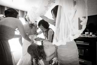 Getting the Bride Ready on the Wedding Day